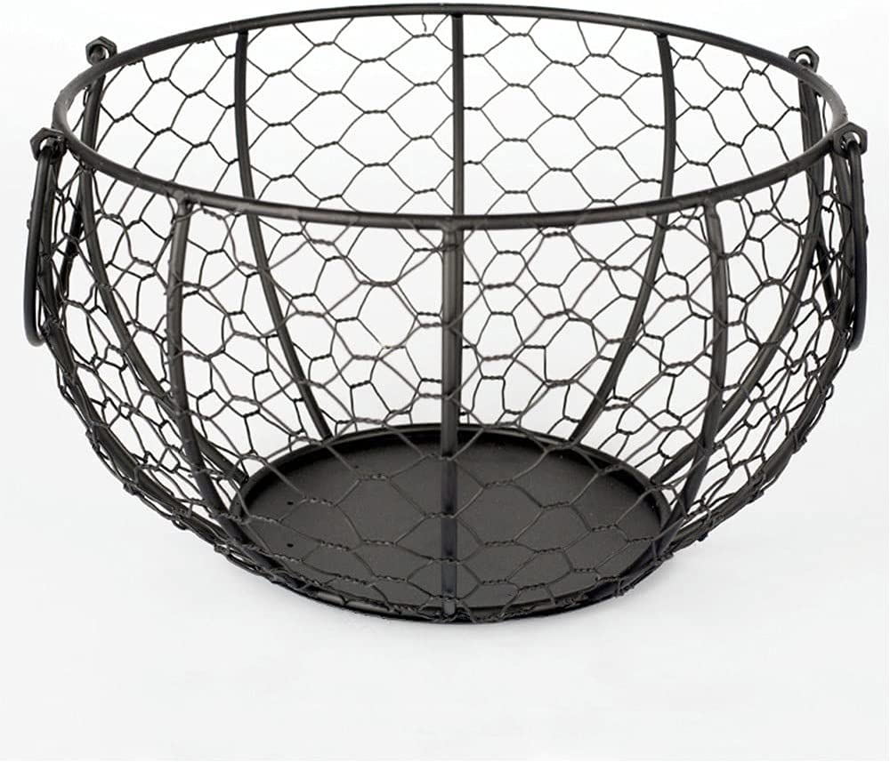 CHYSP Wire Egg Basket Metal Storage Handles Chic Many Max 82% OFF popular brands with