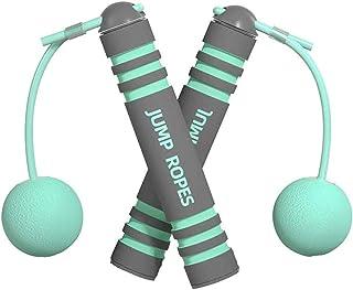 Rep hoppning, justerbart hopprep, yrke sport hopprep för vuxna och barn, halkfritt grepp, hopprep för fitness, viktminskni...