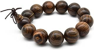 Unisex Natural Tigerwood Mala Beads Buddhist Prayer Bracelet Link Wrist Necklace Chain Beads