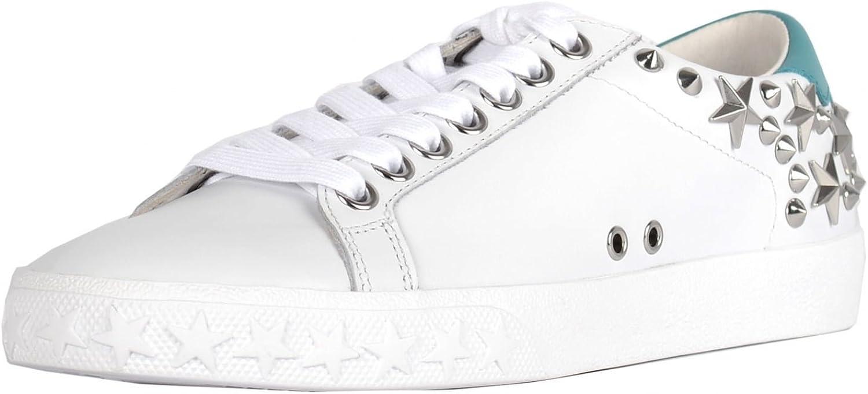 ASH Footwear Dazed Dazed Weiß and Turquoise Star Studded Trainer  große Auswahl und schnelle Lieferung