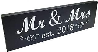 Fenleo Mr & Mrs 2018 Sign Wood Wedding Sweetheart Table Wall Decor Wedding Gifts