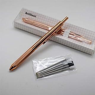 Sinyon Metal 4-in-1 Multicolor Pen - Metal barrel Multifunction 4 Colors Pen - Black/Red/Blue Ballpoint Pen and 0.5mm Mechanical Pencil (1PCS PACK, Rose gold)