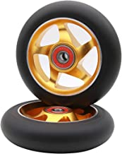 Z-FIRST 2Pcs 100 mm Pro Stunt Scooter Wheels with ABEC 9 Bearings for MGP/Razor/Lucky/Envy/Vokul Pro Scooters Replacement Wheels