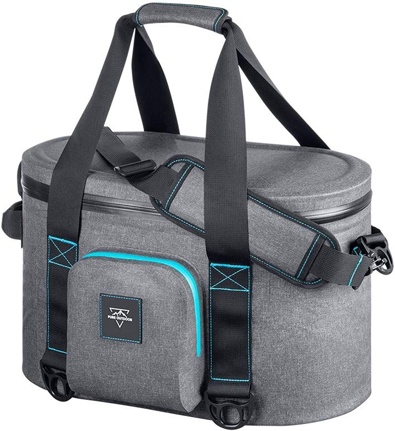 Monoprice 131258 Emperor Flip Portable Soft Cooler - Waterproof Exterior, IPX7-Rated Zippers Ideal for Camping, Fishing, BBQ - Pure Outdoor Collection