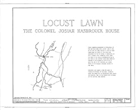 Historic Pictoric Blueprint Diagram HABS NY,56-NEWP.V,1- (Sheet 1 of 6) - Locust Lawn, State Route 32, New Paltz, Ulster County, NY 44in x 32in