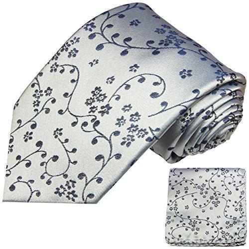 Cravate homme bleu argent ensemble de cravate 2 Pièces ( longueur 165cm )