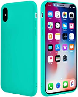 iEugen Case for iPhone Xs Max Case 6.5 Inch, Soft Silicone TPU Cover Bumper Slim Thin Case Compatible with iPhone Xs MAX (2018), Teal