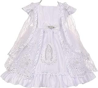 Little Baby Girls Virgin Mary Embroidery Christening Baptism Dresses