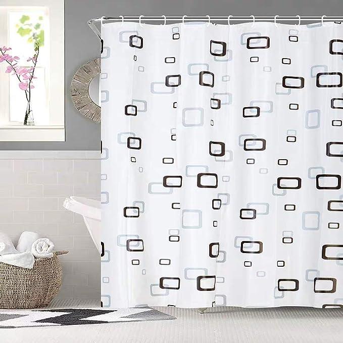 379 opinioni per Bathroom Shower Curtain 180 x 180cm Liner 100% PEVA- 3D Effect Design Waterproof