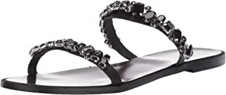 Women's Loveday Flat Sandal Black Leather 10 M US
