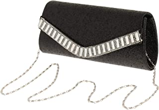 FITYLE Women's Shiny Envelope Clutch Evening Bag Crossbody with Detachable Chain