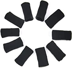 10 X Finger Protector Sleeve Stretchy Arthritis Support Sports Aid by TRIXES