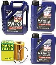 Mann Oil Change Kit w Filter HU925/4x + LiquiMoly5W-40 Compatible with 96-06 BMW E36/E39/E46/E83 2.5L OR 3.0L M54