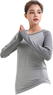 LWJ 1982 Long Sleeve Workout Yoga Tops Running Hiking Shirts for Women Sports Clothes Dry Fit Thumb Holes