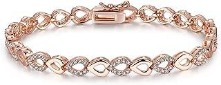 Pulseiras Moda 2018 Rose Gold Plated Bracelet Women PL0067