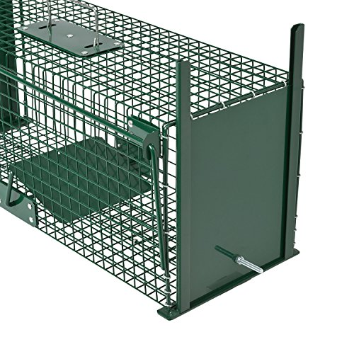 Moorland Piège de Capture - Cage - L - pour Petits Animaux : Lapins, Rats, martres, fouines - 61x21x23cm Deux entrées + Poignée