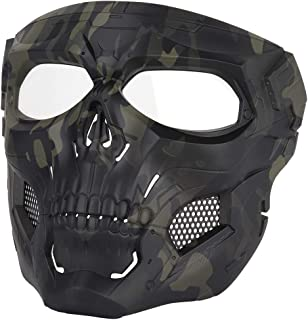 WoSporT Skull Airsoft Paintball Mask Full Face Tactical Mask with Eye Protection for Tactical Outdoor,CS Game,War Game,Ideal Mask for Halloween, Cosplay, Costume Party and Movie Prop