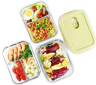 LINGLING Boîte à lunch Glass Container Sets alimentaire Rangement et organisation Services Verre alimentaires Conteneurs c...