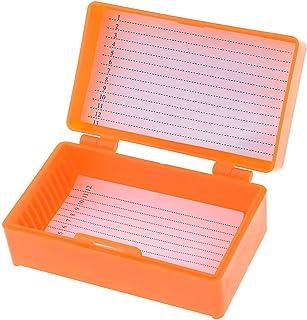 uxcell 12顕微鏡プレパラートボックス 標本プレパラートセット 化学実験顕微鏡アクセサリ 8センチメートルX 4.5センチメートル オレンジ