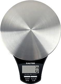 Salter Balance de cuisine electronique digitale ronde en acier inoxydable - Pesez les aliments avec précision jusqu'à 5 k...