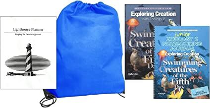 Exploring Creation with Zoology 2 w/ JUNIOR Notebooking Journal homeschool kit in a bag