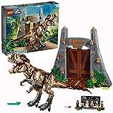 LEGO Jurassic World - Parque Jurásico: Caos del T. rex, Set de Construcción de Dinosaurio de la Clásica Película, Incluye Minifiguras de los Personajes de la Saga, Tyrannosaurus de Juguete (75936)