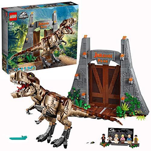 Lego Jurassic World - Parque Jurásico: Caos del T. Rex, Set de Construcción de Dinosaurio de La Clásica Película, Incluye Minifiguras de Los Personajes de La Saga, Tyrannosaurus de Juguete (75936) ()