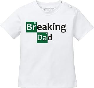 Angry Shirts Breaking Dad - Ich breche Papa - Breaking Bad Parodie - Bio Baby T-Shirt