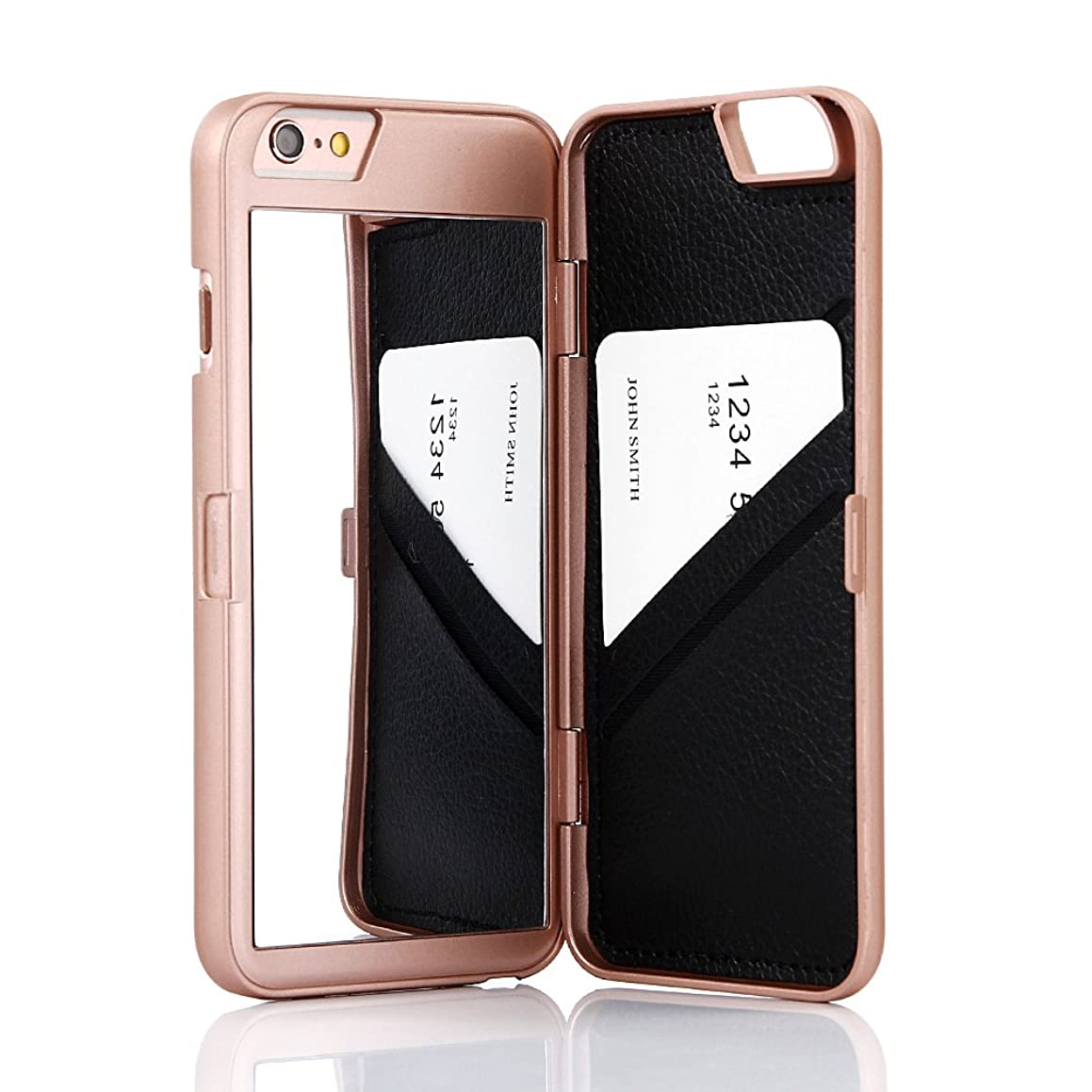 Wetben Case for iPhone 6/6s,Hidden Back Mirror Wallet Case with Stand Feature and Card Holder for Apple iPhone 6, 6S 4.7