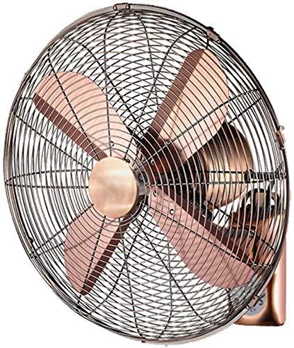 Suge Elektrischer Ventilator/Retro antike Metall-Wandventilator/Fernbedienung schwingen Ventilator, Hausindustrie mit Fernbedienung (Size : 16inch)