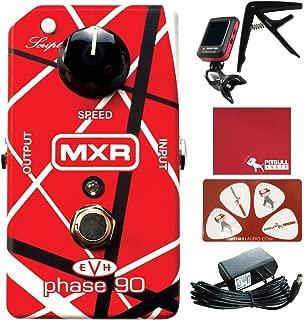 MXR EVH90 Eddie Van Halen Phase 90 Guitar Effects Pedal with Polish Cloth, Pick Card, Tuner, Capo, 9V Power Supply