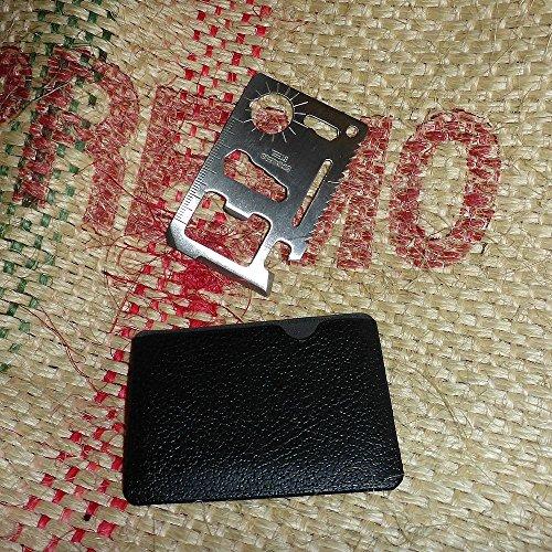 2EQUIP 11-in-1 Multifunktionswerkzeug Survival Multitool Überlebenswerkzeug Scheckkarte EC Kreditkarte Werkzeug Säge Edelstahl Geldbörse