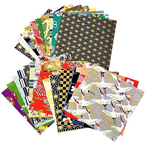 Handbedrucktes Washi Origami 7.5 cm x 7.5 cm 100 Blatt