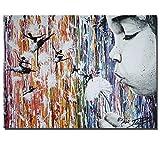Diente de León y bailarinaDIY Pintura al óleo Digital-Lienzo preimpreso-Pintura por Número de Kits Aceite Digital Pintura Pinturas Regalos_40x50cm