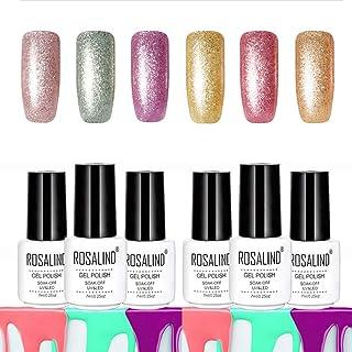 ROSALIND esmalte en gel para uñas de platino Empapa de UV LED Barniz duradero Brillo Resina Laca de colores