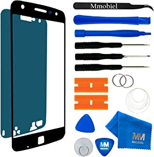 MMOBIEL Back Rear Camera Glass Lens Compatible with Google Pixel 5.0 Inch incl Tweezers and Cloth Black