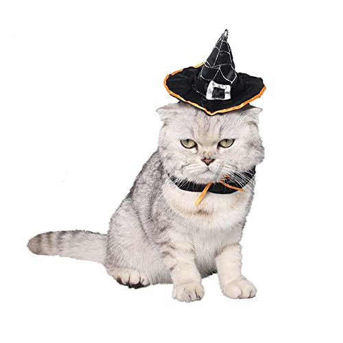 e95dbbca1909b BbearT® Cat Dog Hat Puppy Cat Halloween Holiday Accessory Halloween Wizard  Hat Costume Accessories Witch