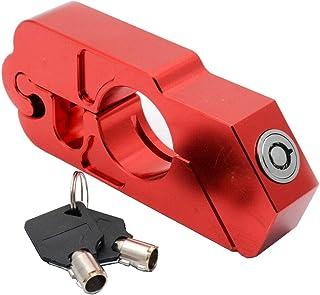 Ocamo Grip Lock Handlebar Grip Lock Anti-theft Brake Lever Security Lock Throttle for Motorcycle Scooter ATV black