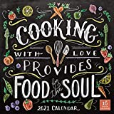 2021 Cooking with Love Provides Food for the Soul 16-Month Wall Calendar