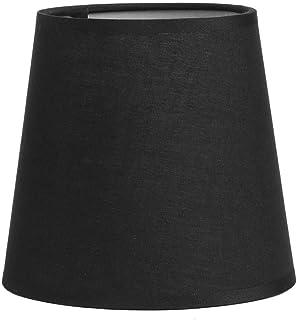 E14 Pantalla Tela Color puro Pantalla para lámpara de pared Mini lámpara Mesa Cubierta Pantalla Sombra(Negro)