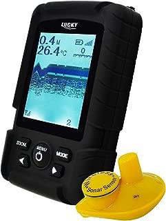 LUCKY Sehen Design Fisch Finder 200ft Kabellos Angebot 45m Wasser Tiefe Sonar Sensor Wiederaufladbar Fisch Locator Detektor 60m