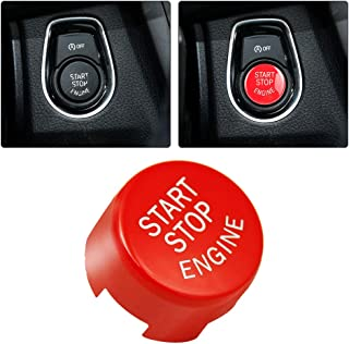 Red Car Engine Start Stop Button Ignition Switch Cover Applicable for BMW E90 E60 F10 F30 G20 G30 328i 2011-2018, G Chassis 2018, Gift for Bimmer BMW Enthusiast