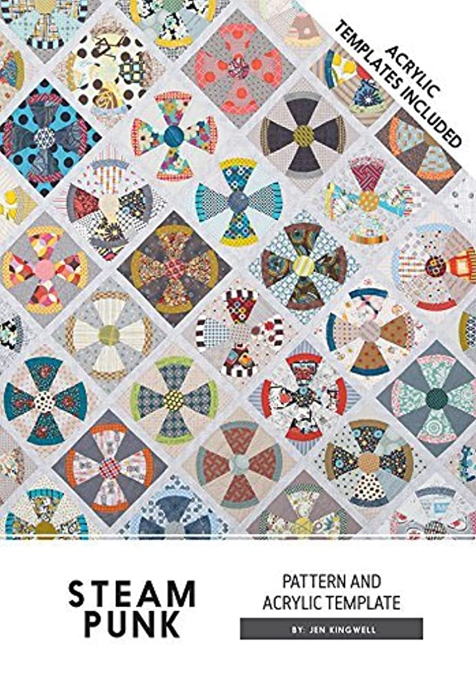 Steam Punk Steampunk Jen Kingwell Designs Quilt Pattern with Acrylic Templates liftjegec4322