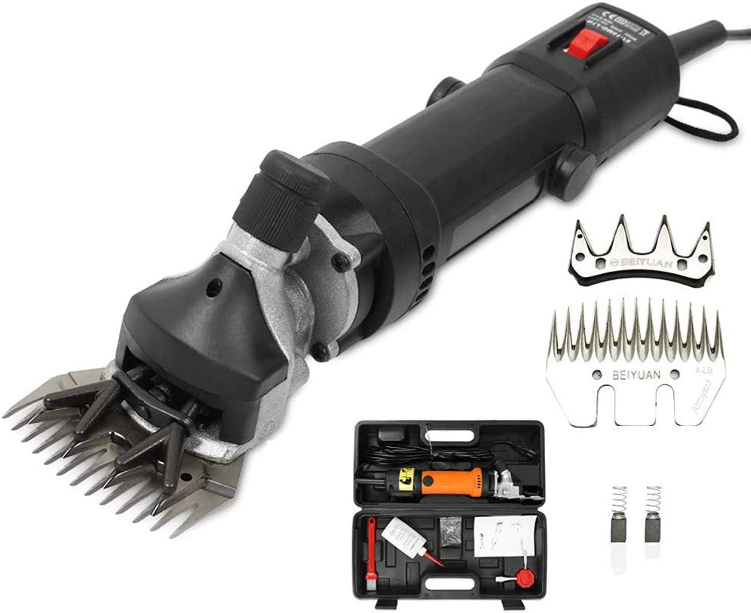 Electric Sheep Shearing Clippers, 690W Professional Electric Sheep Shears Scheren and Livestock Shears & Grooming Supplies, 6Speed 13 Straight Teeth,Black,220V