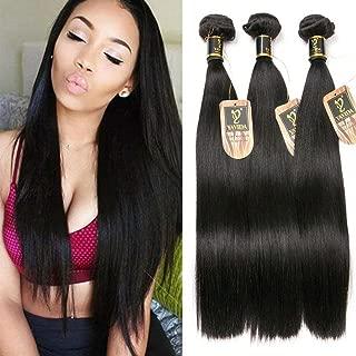 Yavida Straight Bundles Brazilian Straight Hair Bundles Virgin Straight Human Hair Bundles 300g Natural Black 16 12 14 Inch Straight Bundles
