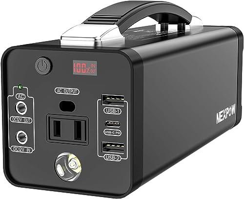 NEXPOW Portable Power Station, 48000mAh Solar Generator Lithium Polymer Battery Emergency Backup Portable Power Sourc...
