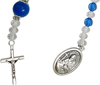 Saint Alphonsus Liguori Patron of Suffer from Arthritis Rosary Chaplet Blessed by His Holiness Francis Free Laminated HC