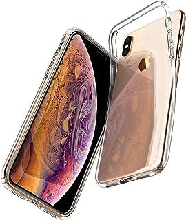 Spigen Liquid Crystal Funda iPhone XS/X con Protección TPU Flexible y Ligero para iPhone XS/X - Transparente