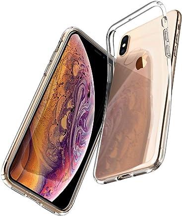 Spigen 057CS22118 Liquid Crystal Kompatibel mit iPhone XS Hülle, iPhone X Hülle, Transparent Silikon Handyhülle Schutzhülle Case Crystal Clear