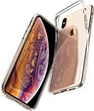 Spigen 057CS22118 Liquid Crystal Kompatibel mit iPhone XS Hülle, iPhone X Hülle, Transparent Silikon Handyhülle Schutzhülle Case Crystal Clear